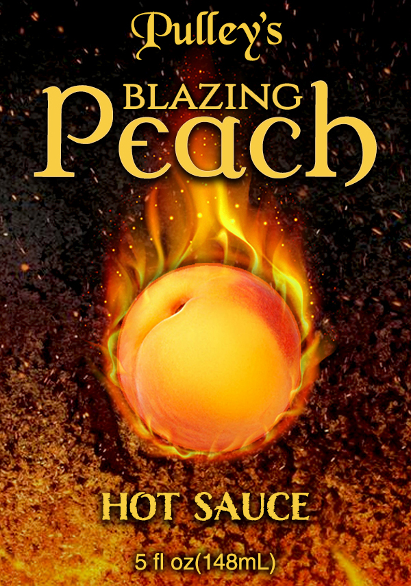 Blazing Peach Front Label