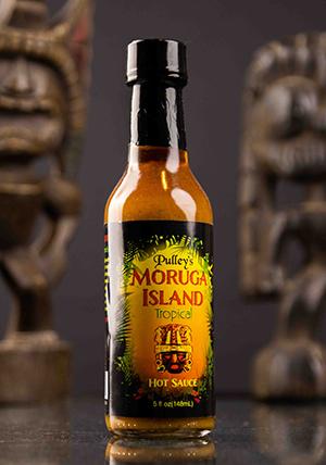 moruga Island hot sauce display